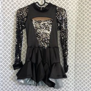 Revolution dancewear sequin foil dance dress LC